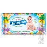 Детские влажные салфетки Superfresh 15 шт