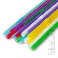 Трубочка с коленом (Микс Разноцветная) 8мм 20см 1000шт Фреш