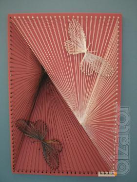 Никтографика ниточный дизайн искусство картины мастерство народное творчество дизайн хобби