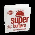 "Уголок бумажный ""Super Burgers"" 140*140мм 500шт"