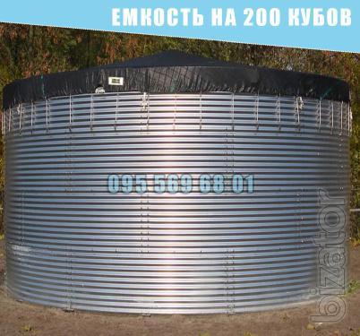 Емкость на 200 кубов для воды, КАС, патоки, резервуар 200 куб.м.