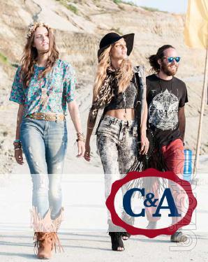 Микс новой женской и мужской одежды C&A лето по €10.50/кг.
