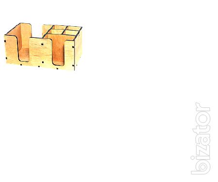 Салфетница деревянная с рисунком13.5*14.5