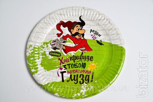 Тарелка бумажная Казаки 100шт 20см