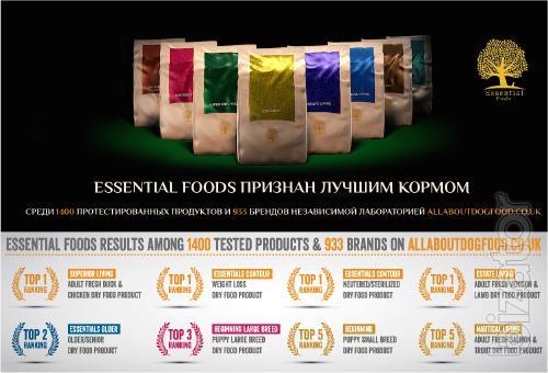 Essential Foods (Denmark) - лучшая еда для собак и котов в Европе. Альтернатива Acana, Orijen и отсутствие аллергии