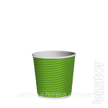 Гофрированные стаканы Салатовые 110мл