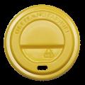 Крышка на стакан КР72 (50/2500) Желтая