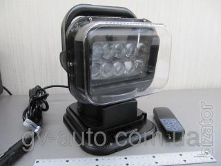 Фара искатель СH-001 LED 50W, светодиоды 50Вт ― 4300 люмен, радиоуправляемая на магните ,черная