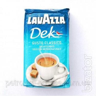 """Кофе молотый """"Lavazza Decaffinato"""" 250г 30/70 банка."""