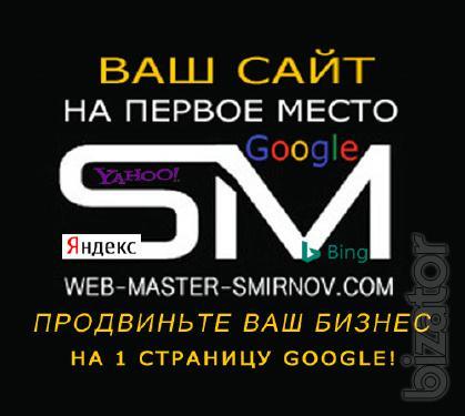 Профессиональное продвижение и создание сайта