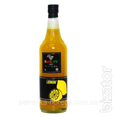 """Сироп для коктелей  """" Лимон"""" 1л (1ящ/6шт)"""
