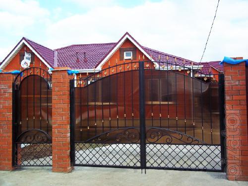 Заводские кованные ворота, изделия