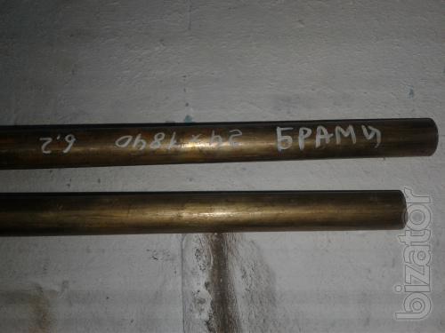 Бронзовый пруток БрАМц 24 мм