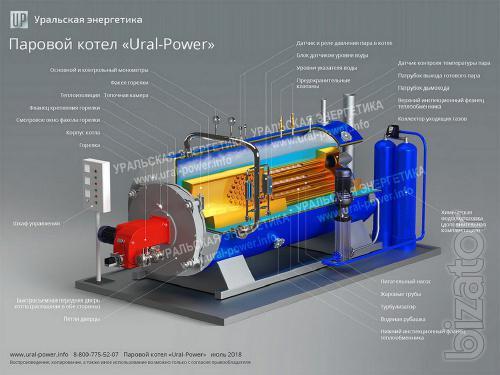 ПаровПаровой котел 2000 кг/ч газ/дизель в наличииой котел 2000 кг/ч газ/дизель в наличии