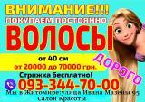 Скупка волос Житомир Дорого от 40 см