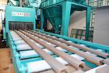 Дробеметная установка  туннельного типа,  для листового и профильного проката