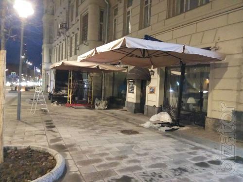 Зонт на боковой опоре 5 х 5 м.