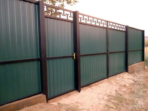 Навесы из поликарбоната, ворота, калитки, заборы из профнастила в Ростове-на-Дону