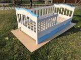 Улучшите осанку ребенка с ортопедической кроваткой из натурального дерева ( для детей от 2-10 лет )