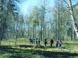 Туристская прогулка по лесу, посещение водопада Подмосковья.