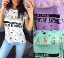 """Стильная хлопковая футболка женская """"Mango"""""""