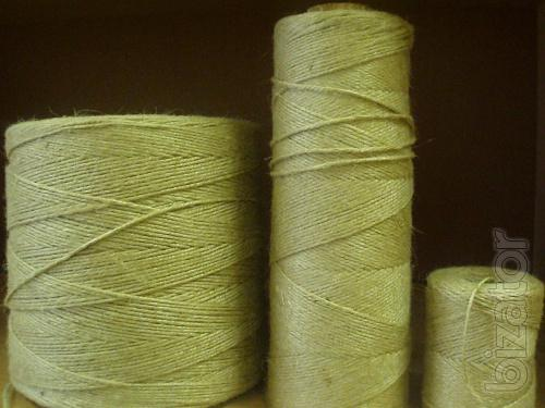 The jute twine 1-4mm from 65 RUB/kg from the VAT