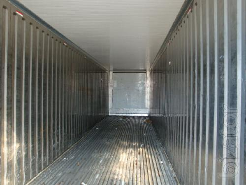 Refrigerated and any other containers 20, 40 b/u