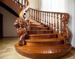 Начальные столбы и балясины с резьбой для лестниц