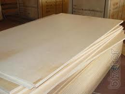 Plywood in stock.