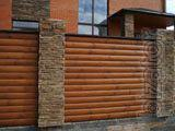 Wooden fences for houses and cottages
