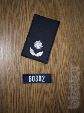 Погон полицейский с номером вашего жетона.