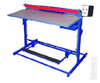 The equipment for bending sheet plastic, termed