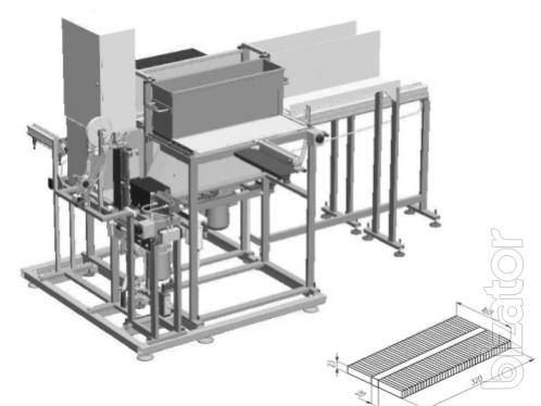 Machine for packaging industrial flooring