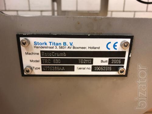 Batter Mixer/Batter Applicator/Rotocrumb Stork Titan TB 150/TEM 630/TRC 630