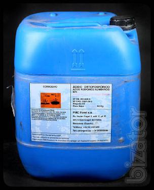 Orthophosphoric acid 72% of those, 85% of the food, H3PO4, Phosphoric acid, Orthophosphoric acid.