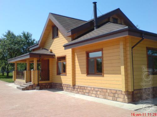 Wooden house Ukraine.Production.Turnkey construction.