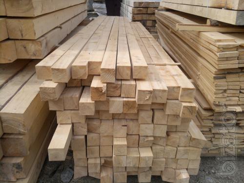 Lumber spruce, fir, Smereka