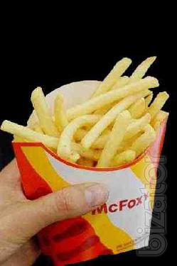 Packing for fries, cardboard packaging
