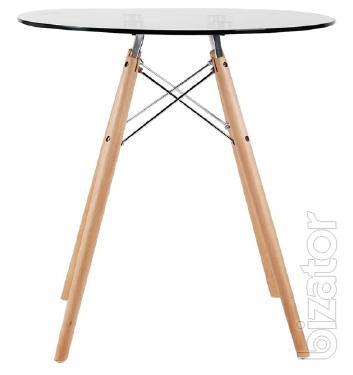 ухонный стеклянный стол Имз круглый 80см За доставку Не платите!