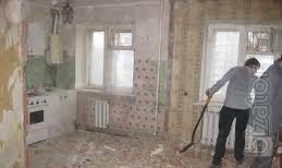 Демонтаж стен, пола, штукатурки, плитки, Вывоз строймусора, хлама,