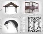 Ворота в Кривом Роге из профлиста, кованые, гаражные. Навесы для дома