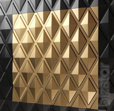 #3D панели из гипса. Монтаж 3dpanel, 3d панели монтаж. Гипсовый декор. Дизайн интерьера.