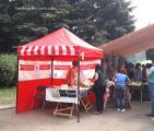 Раздвижные шатры для торговли и выставок, нанесение логотипа и рекламы