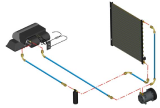 Хладонопровод радиатор-ресивер, шланг кондиционера Acros 530 (2700 мм)