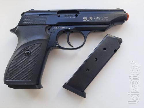 Стартовый пистолет SUR 2608 (чёрный) + запасной магазин