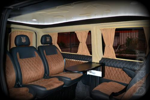 Переоборудование переделка обшивка перетяжка перешивка микроавтобусов буса переобладнання салон в микроавтобус