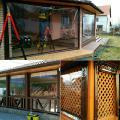 Прозрачные шторы и ролеты для защиты от ветра, дождя, снега