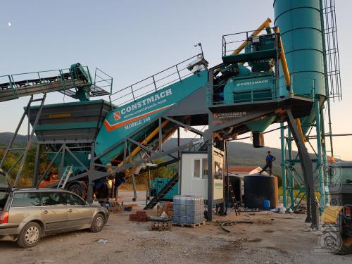 Constmach 100 m3/h Mobile Concrete Plant