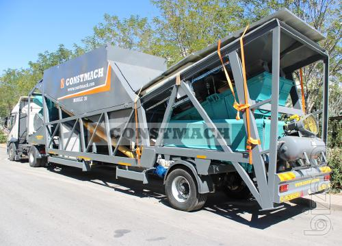 Constmach 30 m3/h Mobile Concrete Plant