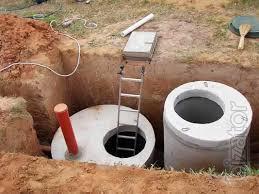 Бетонное кольцо для колодца септика и канализации. ЖБИ кольца. Септик под ключ